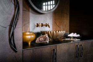Xigera bronze bathrooms